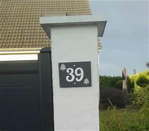 Plaque Numero De Rue : num ro de rue en ardoise 10mm d s port inclus ~ Melissatoandfro.com Idées de Décoration