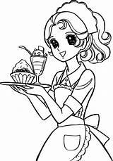Coloring Manga Colouring Waiter Fashioned Chibi Easy Shojo Sheets Hi Drawing Memory Printable Anime Few Picolour Cartoon Adults Candy Boy sketch template