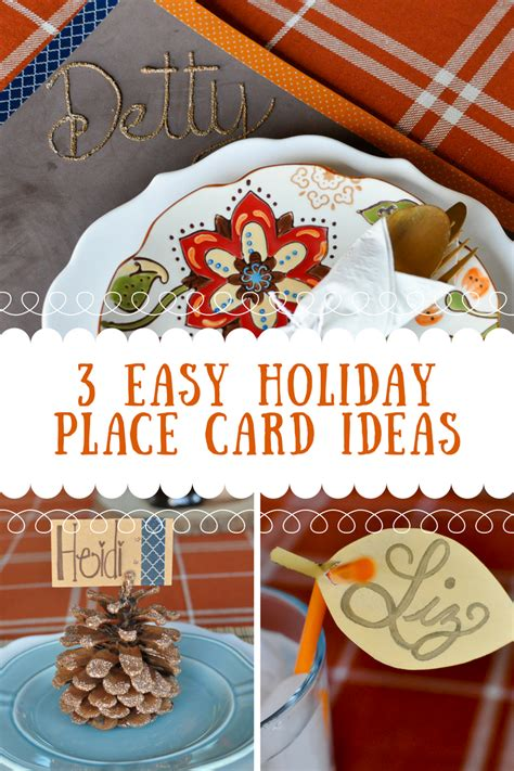 3 Easy Holiday Place Card Ideas  Awesome With Sprinkles