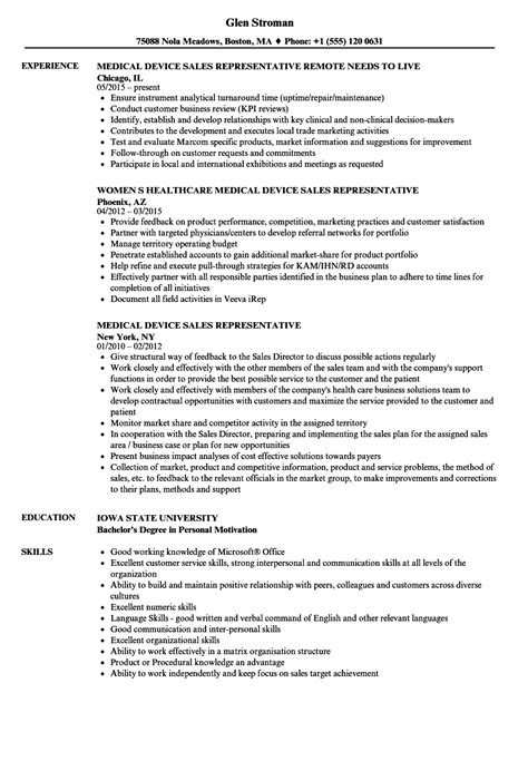Device Sales Resume by Device Sales Representative Resume Sle Elite
