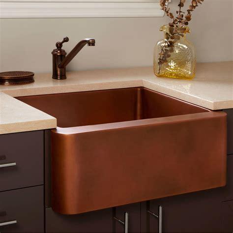 amelie copper farmhouse sink kitchen