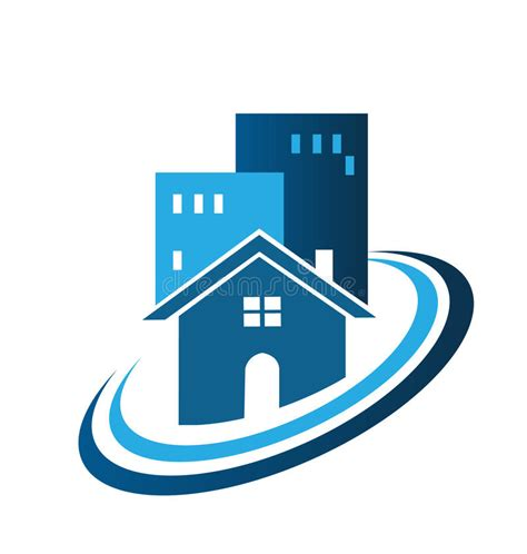 Blue Real Estate House Logo Stock Vector  Image 41064588