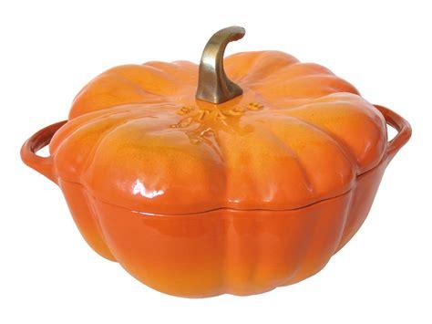 staub pumpkin dutch oven  quart orange cutlery