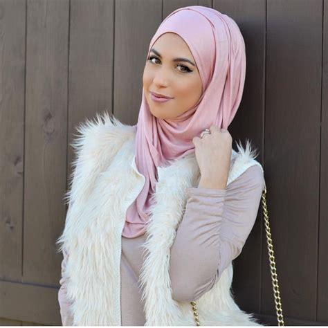 unique hijabs  instagram  rose pink jersey hijab elegantly style  athijabsbyhanan