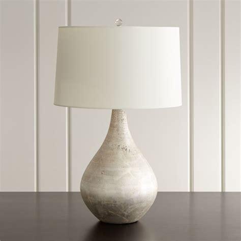 bedroom table lights mulino teardrop table lamp reviews crate and barrel 10700 | MulinoTableLampOffSHF15