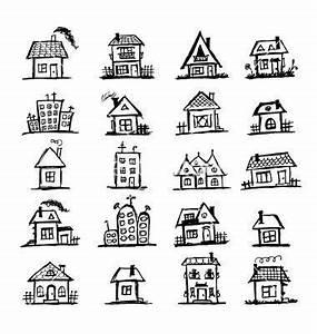 Haus Strichzeichnung Einfach : h user drawings ~ Watch28wear.com Haus und Dekorationen