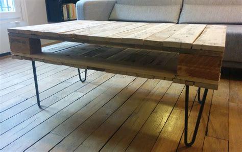 Attrayant Fabrication Meuble Avec Palette Bois #14 - La Table Basse En Bois De Palette De ...