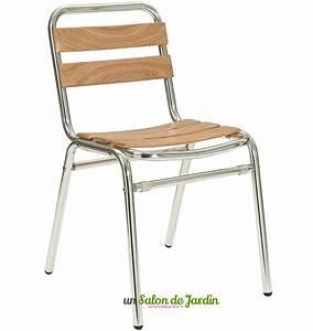 Salon De Jardin Bistrot : chaise bistrot alu et bois table de lit ~ Teatrodelosmanantiales.com Idées de Décoration
