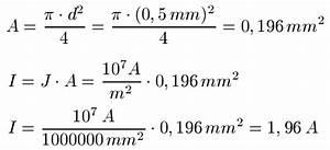 Durchmesser Aus Umfang Berechnen : elektrische stromdichte j ~ Themetempest.com Abrechnung