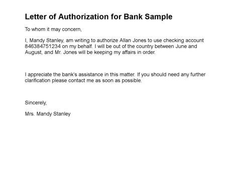 letter  authorization sample letter  authorization