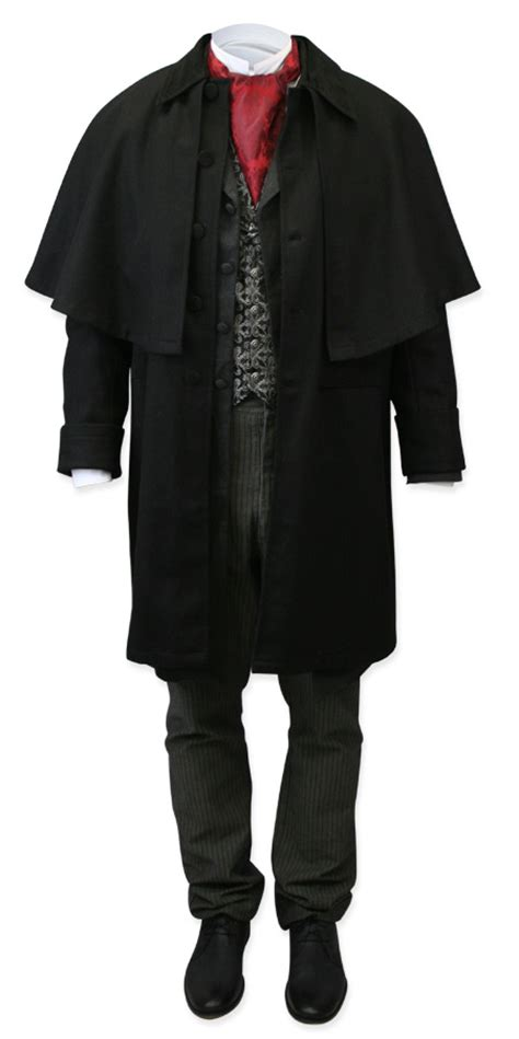 coburn great coat black wool