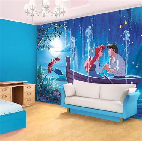 Disney Wallpaper For Bedrooms by Xl Ariel The Mermaid Disney Blue Bedroom Wallpaper