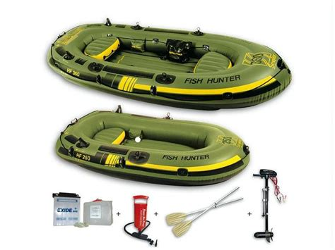 Yacht Opblaasboot by Bote Hf250m Fish Hunter 2 Plazas Motor Electrico Sbm18