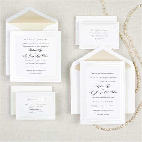 pearl pleasure wedding invitation exclusivelyweddings