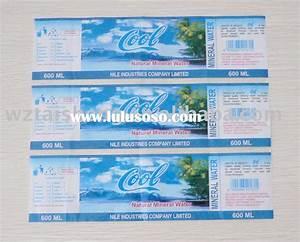 Diy water bottle label template diy water bottle label for Mineral water label template