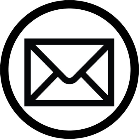 email icon transparent background concept professional
