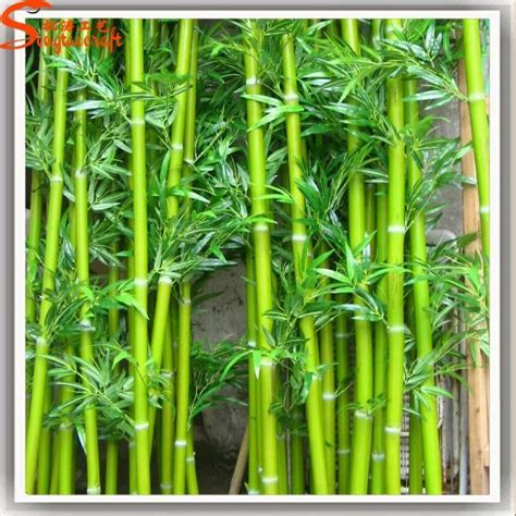 newest outdoor decorative artificial green bamboo stick