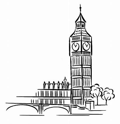 Ben Coloring Tower Clock Pages London Cartoon