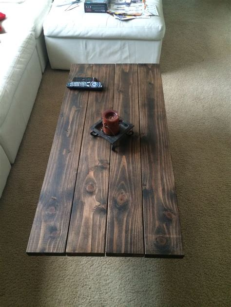 coffee table top  douglas fir  dark stain wax