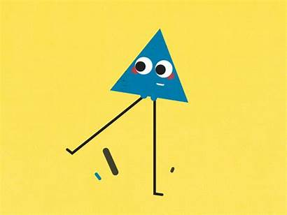 Triangle Dribbble Character Fun Shape Shapes 2d