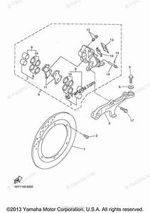 Yamaha Motorcycle 2000 Oem Parts Diagram For Rear Brake Caliper