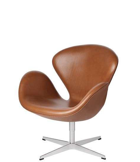 the swan easy chair leather