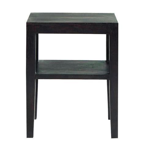 table de chevet wenge table de chevet en acacia massif weng 233 l 45 cm goa