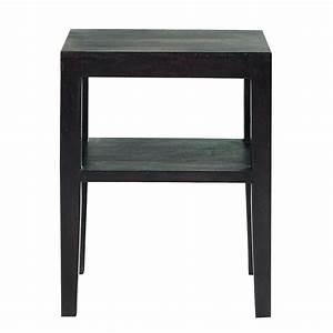 Table De Chevet Wengé : table de chevet en acacia massif weng l 45 cm goa ~ Teatrodelosmanantiales.com Idées de Décoration