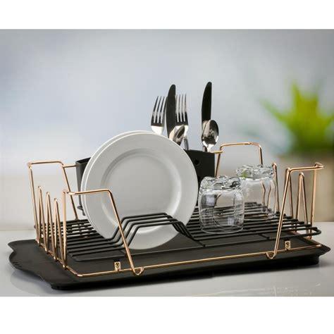 kitchen dish storage macbeth contemporary 3 gold dish rack set m 1554