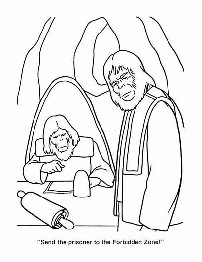Apes Planet Coloring Pages Cbt Cut