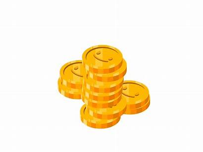 Coins Coin Money Clipart Animated Animation Golden
