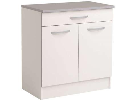 meuble bas cuisine hauteur 80 cm meuble bas 80 cm 2 portes 1 tiroir spoon coloris blanc