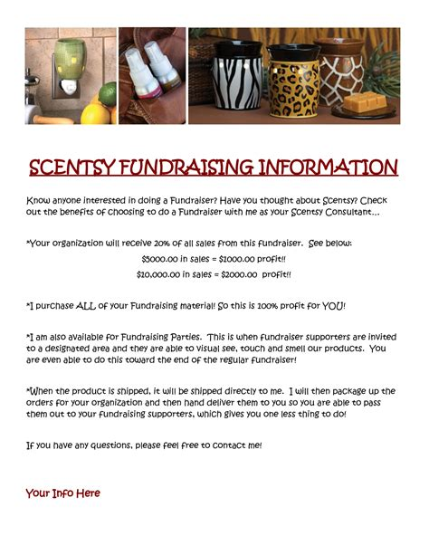 scentsy fundraising information i need to make a
