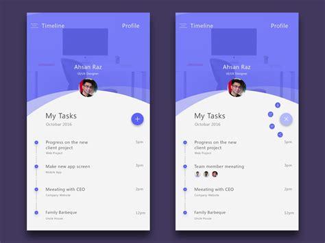 task app ui  ahsan raz  dribbble
