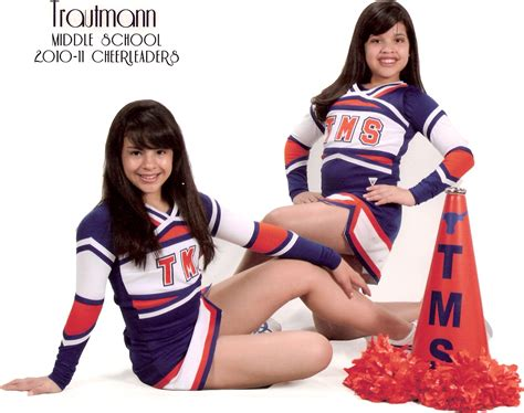 Sixth Grade Girls Cheerleaders