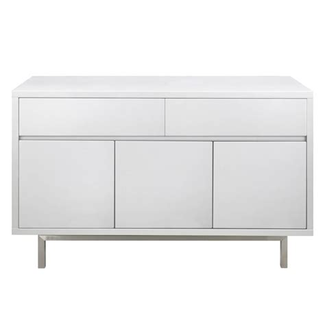High Gloss Sideboards Uk by Miami White High Gloss Sideboard 3 Door 2 Drawer