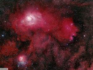 Trifid Nebula and Lagoon Nebula area pictures