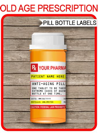 gag prescription labels template fake prescription pill
