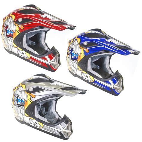 skull motocross helmet duchinni d300 skull junior motocross helmet clearance