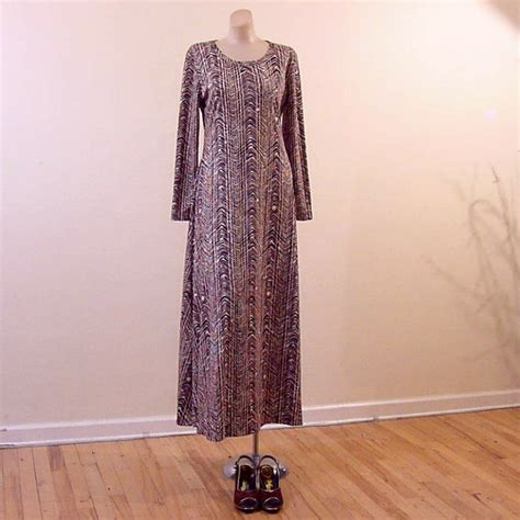 vintage dress 70 s slinky 70s slinky diane furstenberg maxi dress 42b 34w