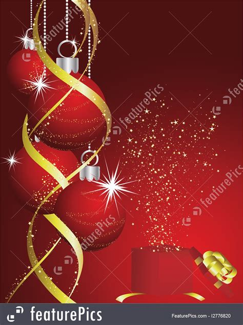 christmas red  gold background