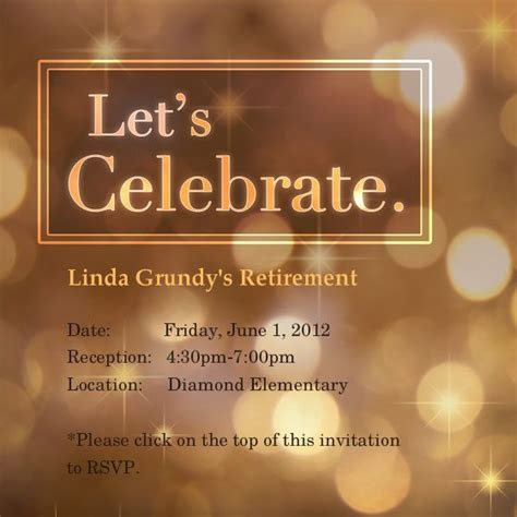 retirement invitations template  template