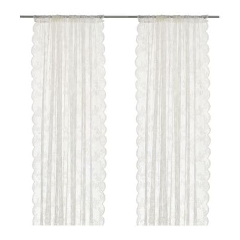 alvine spets net curtains  pair ikea