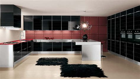ultra glossy  sleek kitchen design crystallo