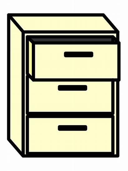 Cabinet Clipart Cupboard Clip Filing Cliparts Transparent