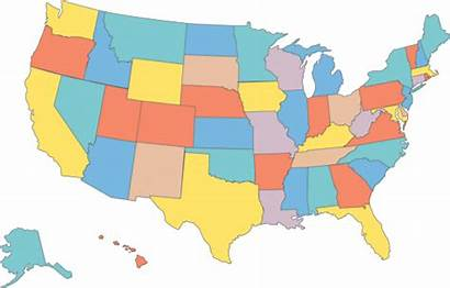 Map Eps Usa Maps Vector State Blank