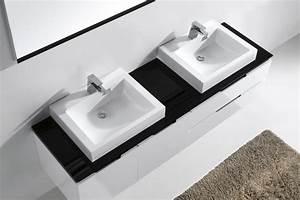 Soft Close Schublade : modern ii double badm bel waschtisch badkeramik spiegel badezimmer waschbecken ebay ~ Orissabook.com Haus und Dekorationen
