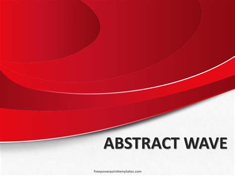 abstract red wave powerpoint template