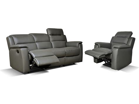 canape sofia canapé et fauteuil relax cuir sofia anthracite