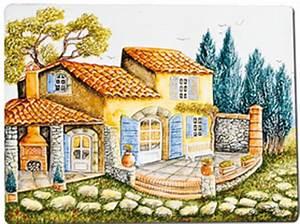 Decoration Murale Exterieur Provencale : carrelage cuisine fresque ~ Nature-et-papiers.com Idées de Décoration